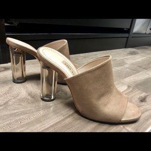 Zara Shoes - ZARA Suede slip on sandals with methacrylate heels